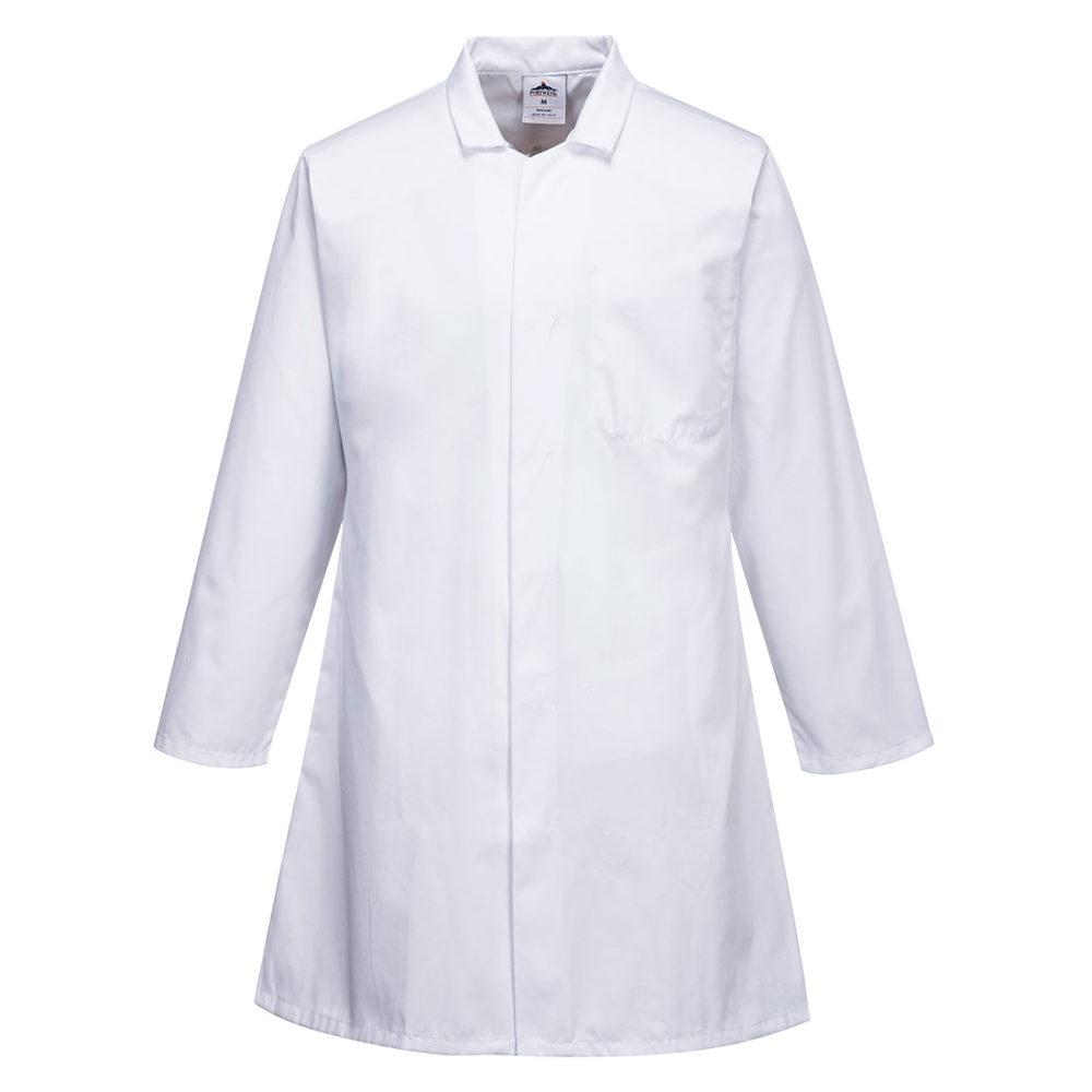 2206 – Bata de alimentación, tres bolsillos, de caballero  Blanco