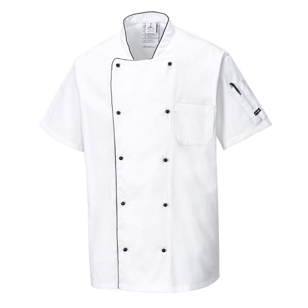 C676 – Chaqueta de chef aireada  Blanco