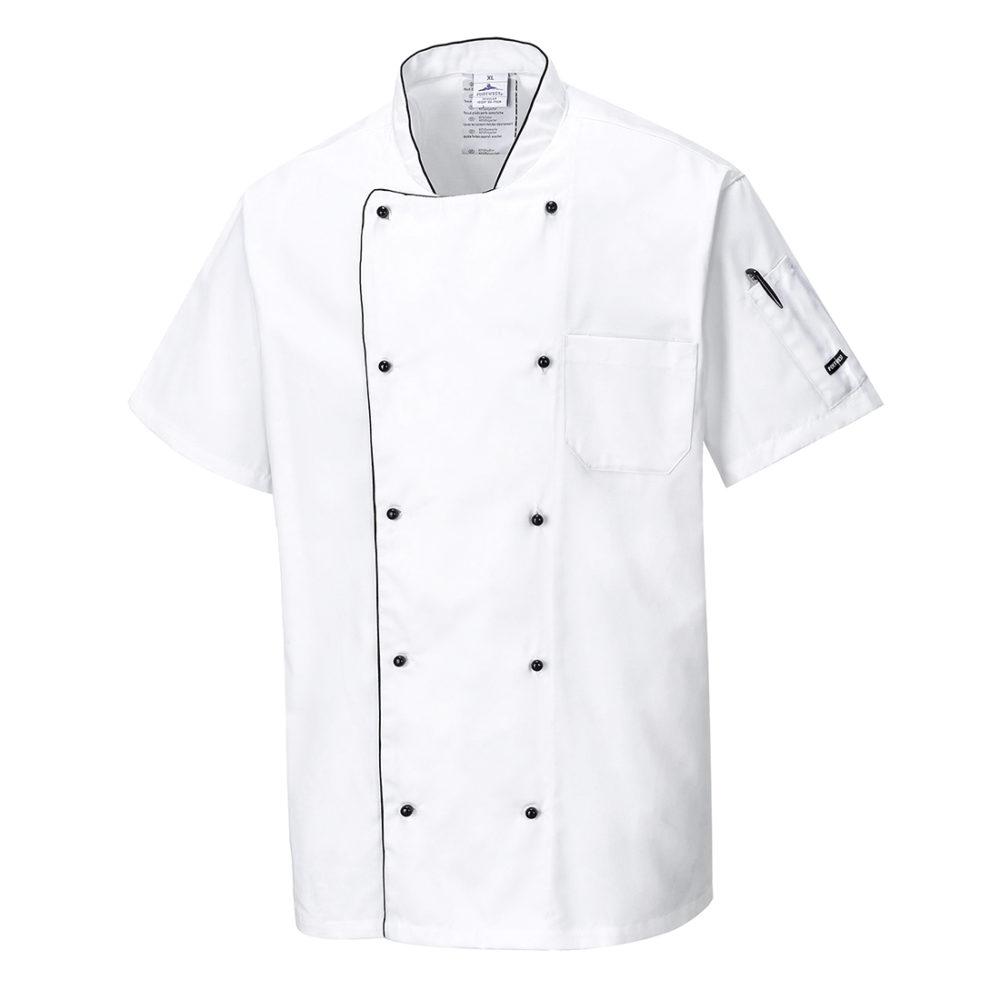 C676 – Chaqueta de chef aireada  Blanco