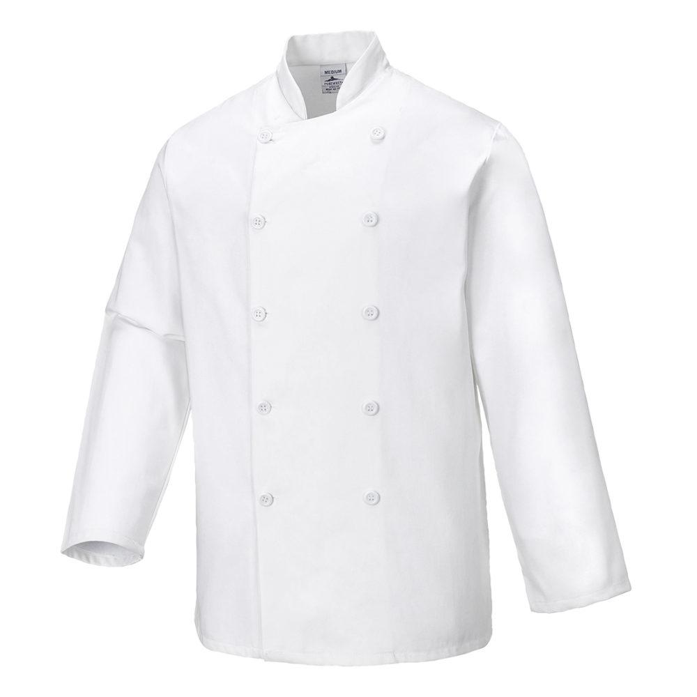 C836 – Chaqueta de chef Sussex  Blanco