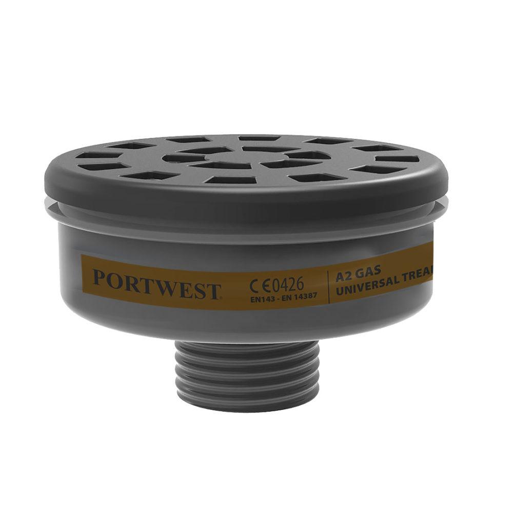 P906 – Filtro para gases A2, con rosca universal  Negro. cajas de  6  unidades