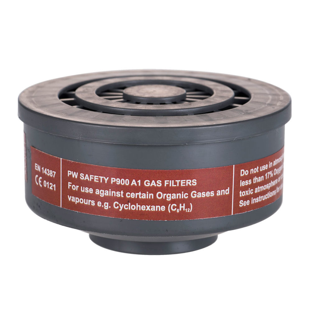 P900 – Filtro de gases A1 con conexión de rosca especial  Gris