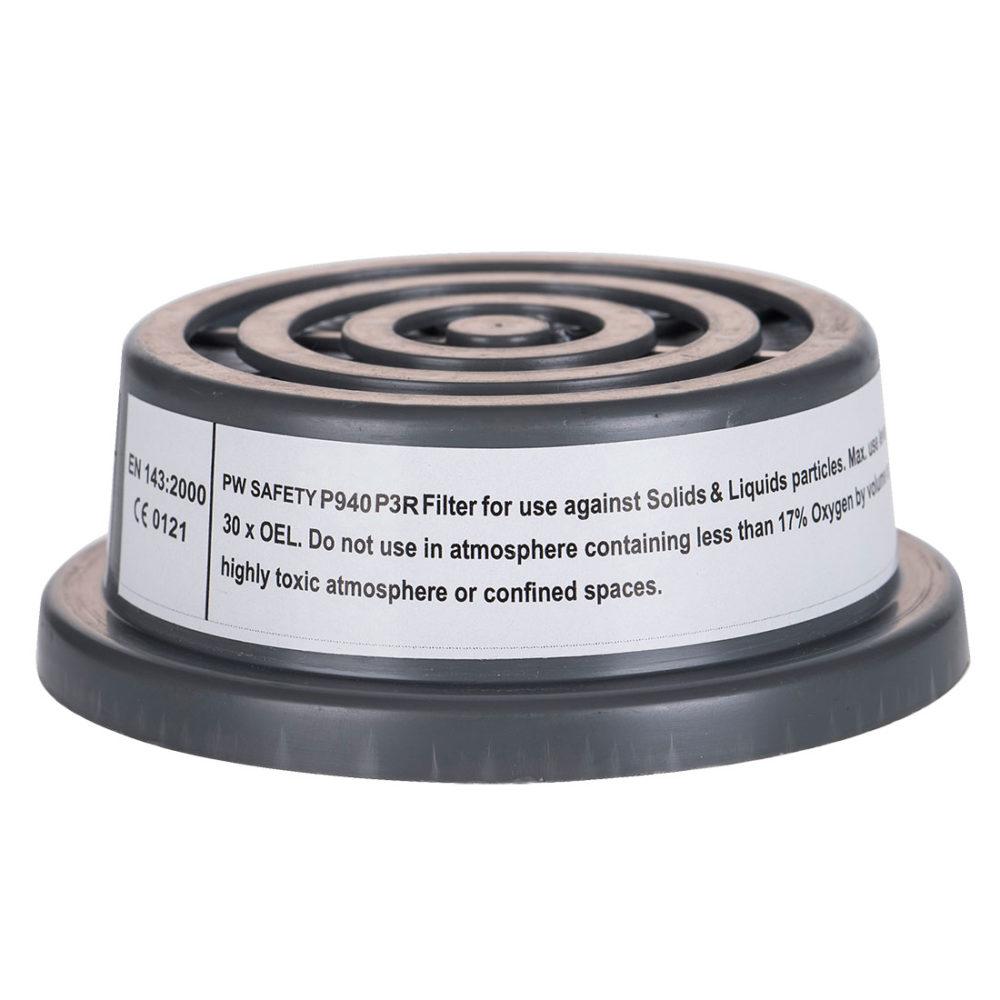 P940 – Filtro de partículas P3 con conexión de rosca especial  Gris. cajas de  6  unidades