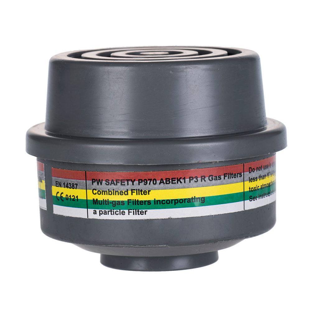 P970 – Filtro combinado ABEK1P3, con conexión de rosca especial  Gris. cajas de  4  unidades