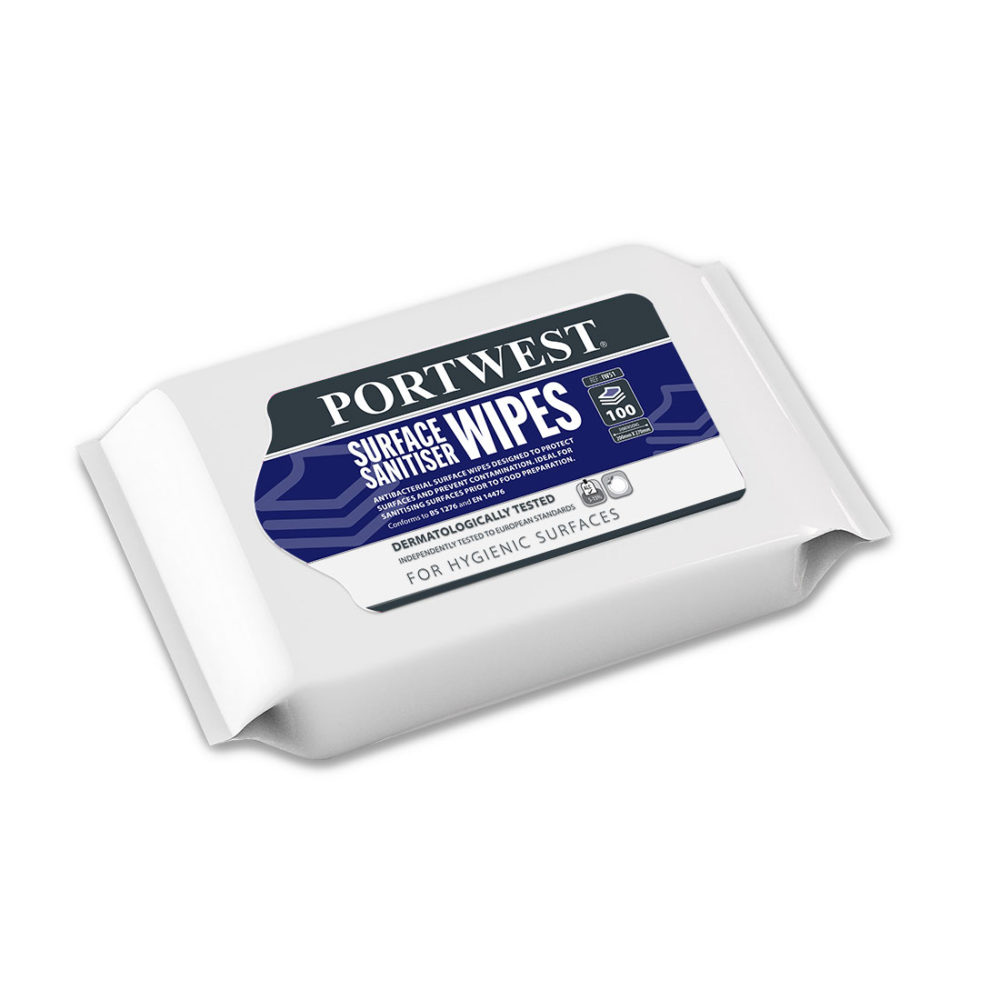 IW51 – Paquete de toallitas para superficies (100 toallitas)  Blanco