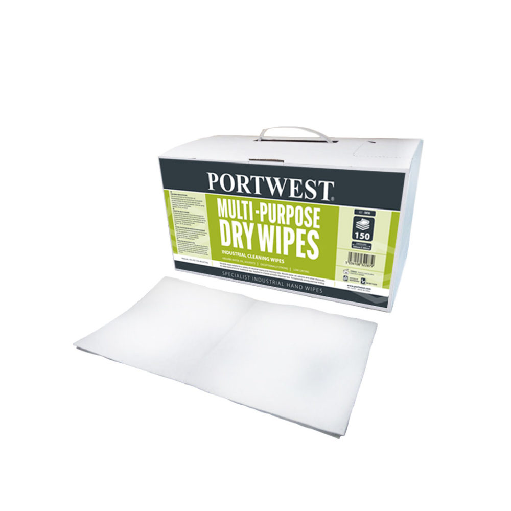 IW90 – Toallitas secas multi-uso (150 toallitas)  Blanco