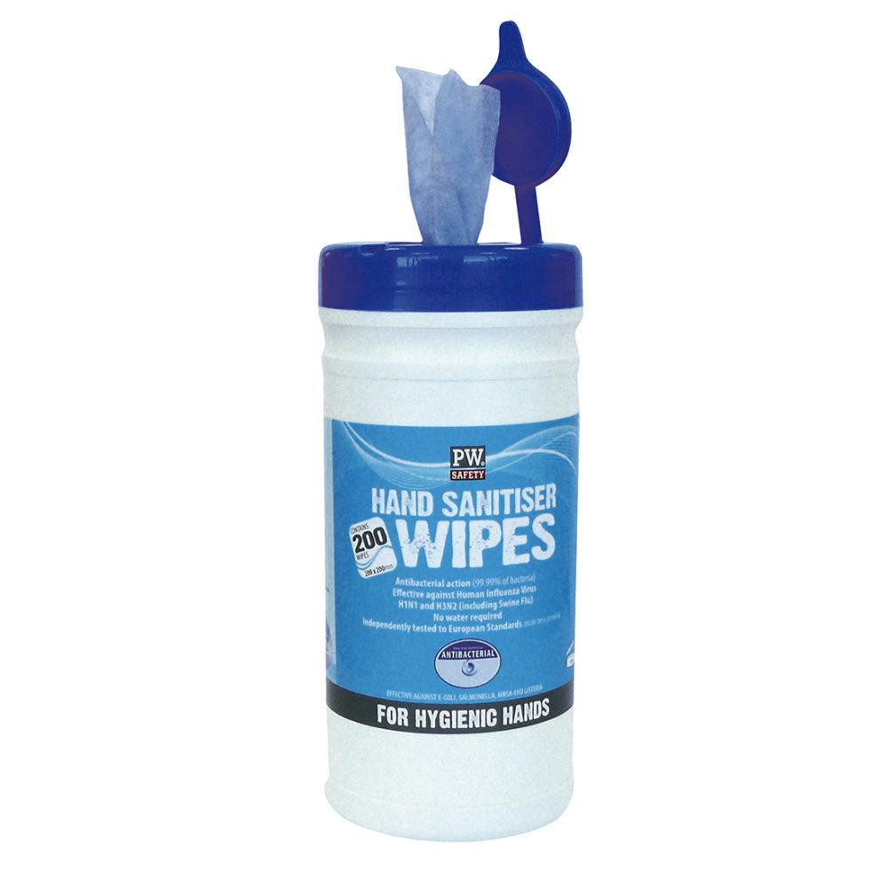 IW40 – Toallitas Sanitiser para manos (200 Toallitas)  Azul