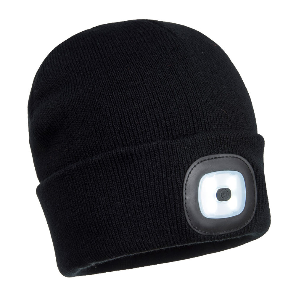 B028 – Gorro con doble LED recargable