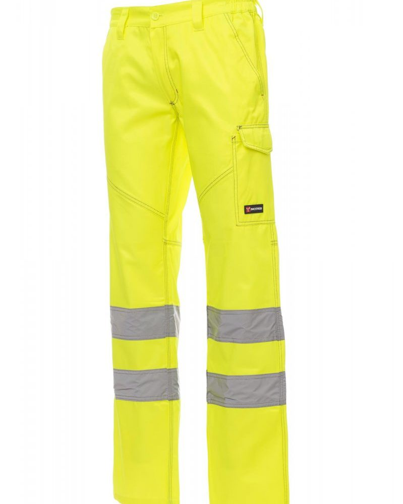 CHARTER. Pantalón de alta visibilidad y dos tonalidades para todo el año  con bandas reflectantes