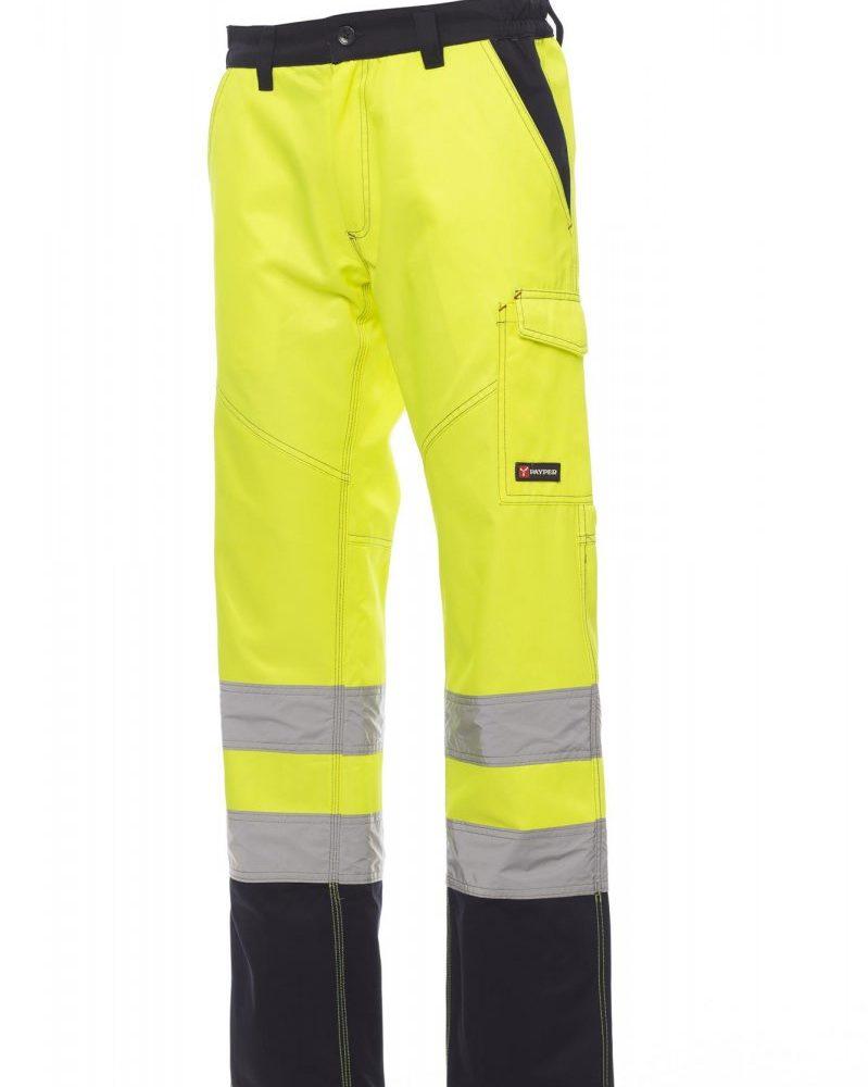 CHARTER POLAR. Pantalón de alta visibilidad y dos tonalidades de franela para invierno con bandas reflectantes