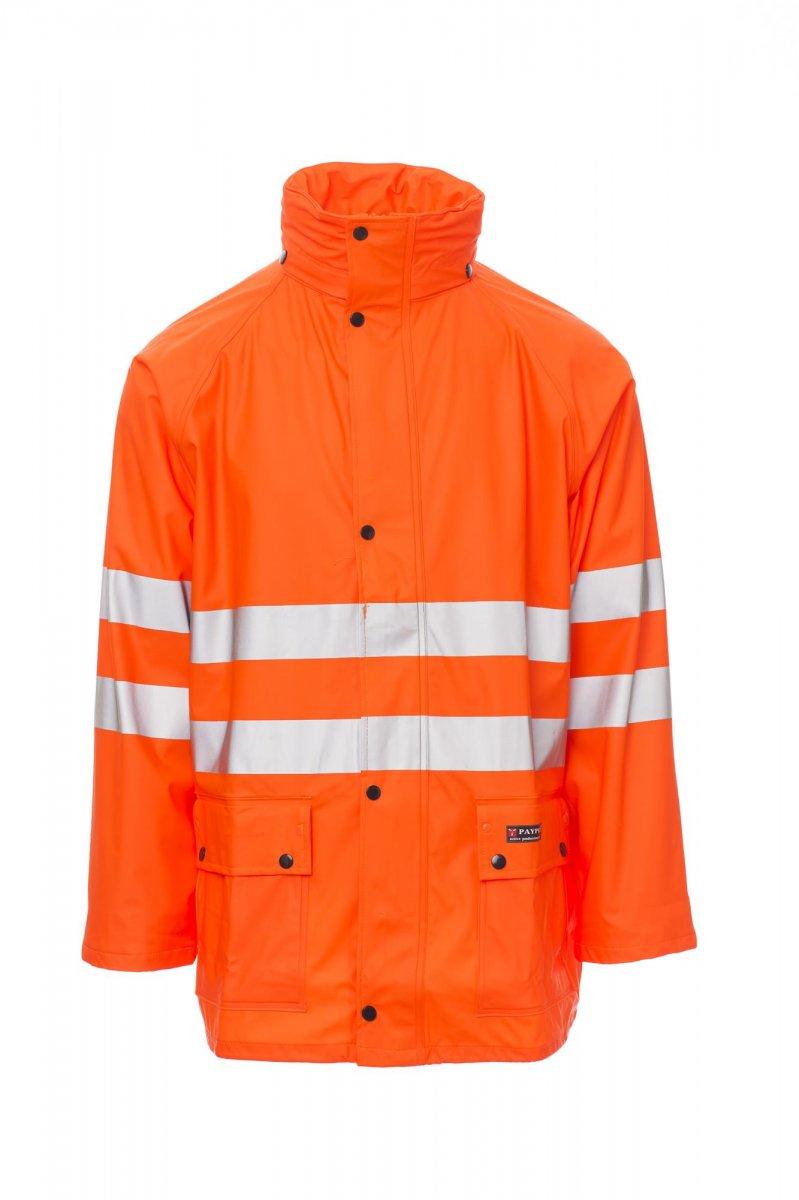RIVER-JACKET. Chaqueta de alta visibilidad para lluvia con bandas 3M