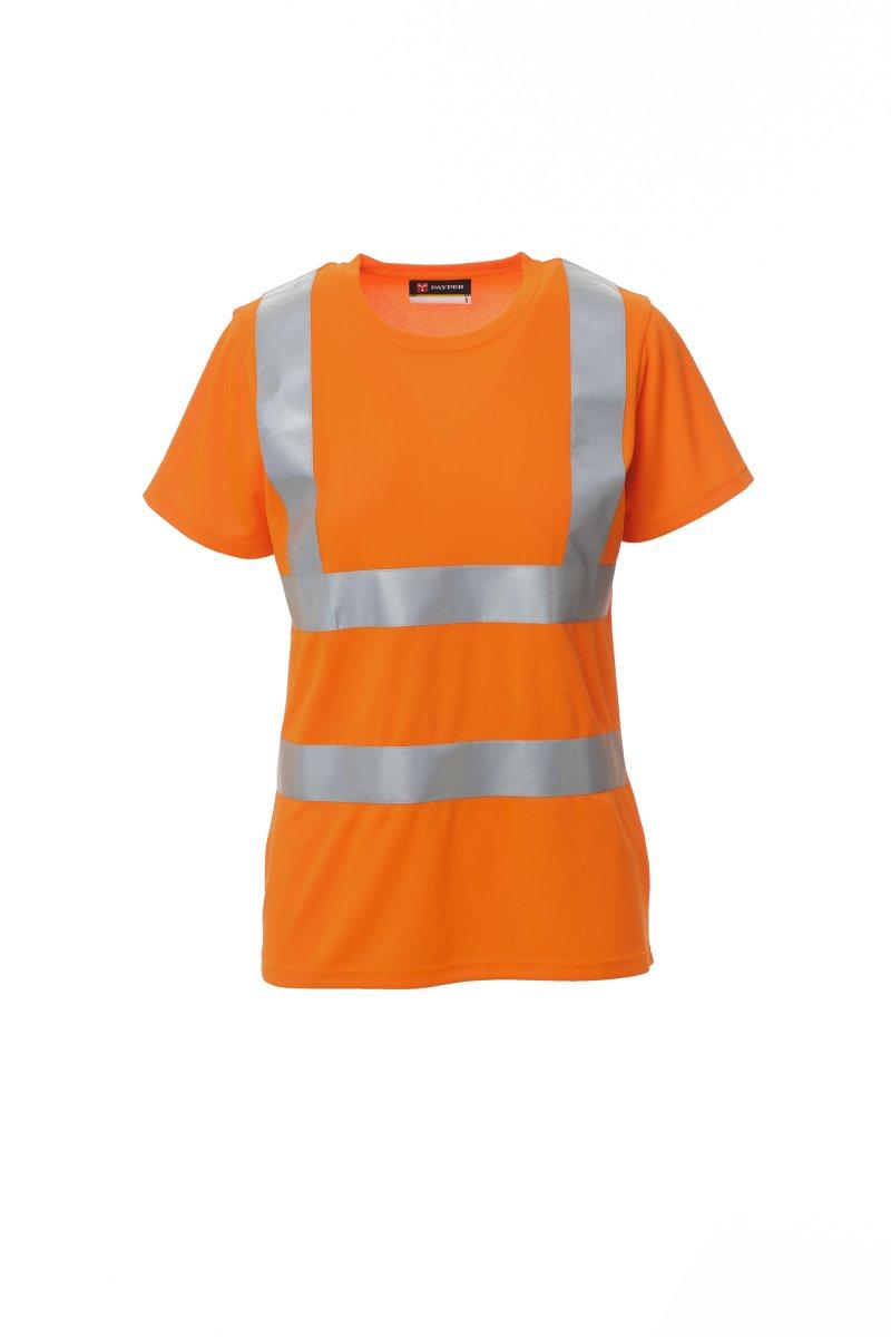 AVENUE LADY.  Camisetas de cuello redondo  manga corta, de alta visibilidad con bandas reflectantes