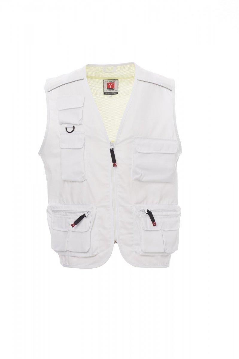 POCKET.  Chaleco para verano, cremallera, sistema de varios bolsillos delanteros con soporte para tarjeta de identificación reversible