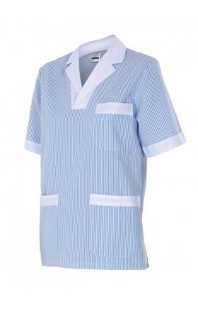 V585 Camisola pijama a rayas manga corta