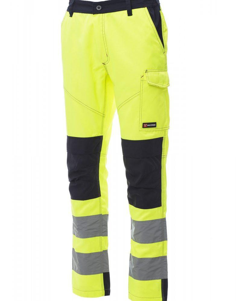 CHARTER TECH. Pantalones con soportes para almohadillas (rodilleras), multiestación, de alta visibilidad con bandas reflectantes