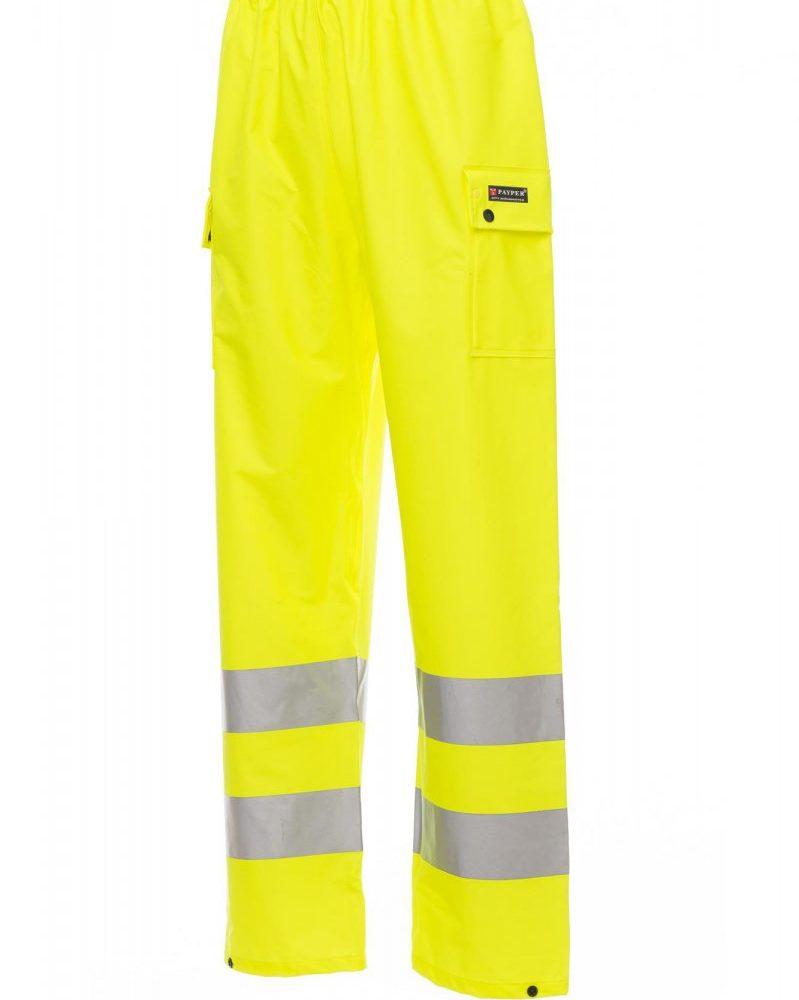 RIVER-PANTS. Pantalón de alta visibilidad para lluvia con bandas 3M