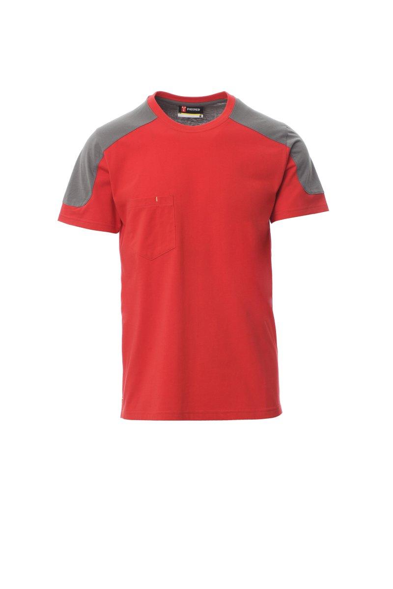 CORPORATE. Camiseta bicolor, bolsillo en el pecho con soporte para bolígrafos