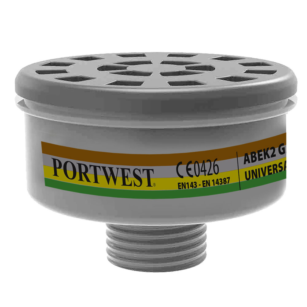 P926 – Filtro para gases ABEK2, con rosca universal  Negro. cajas de  4  unidades