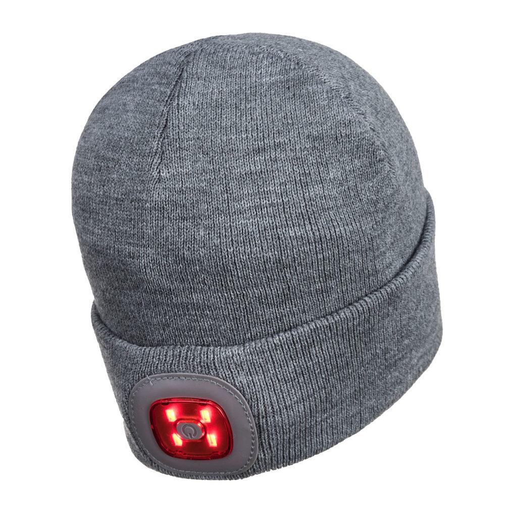 B029 – Gorro Beanie con luz LED recargable