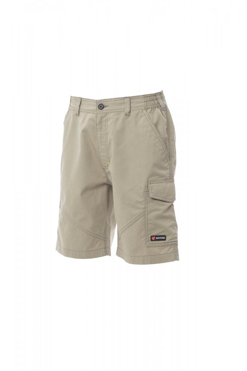 CARACAS. Bermudas con elásticos laterales y trabillas en la cintura, cierre con cremallera