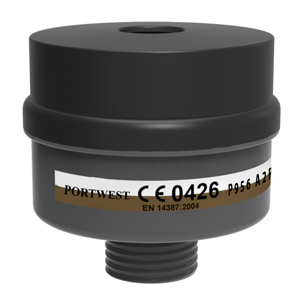 P956 – Filtro combinado A2P3, con rosca universal  Negro. cajas de  4  unidades
