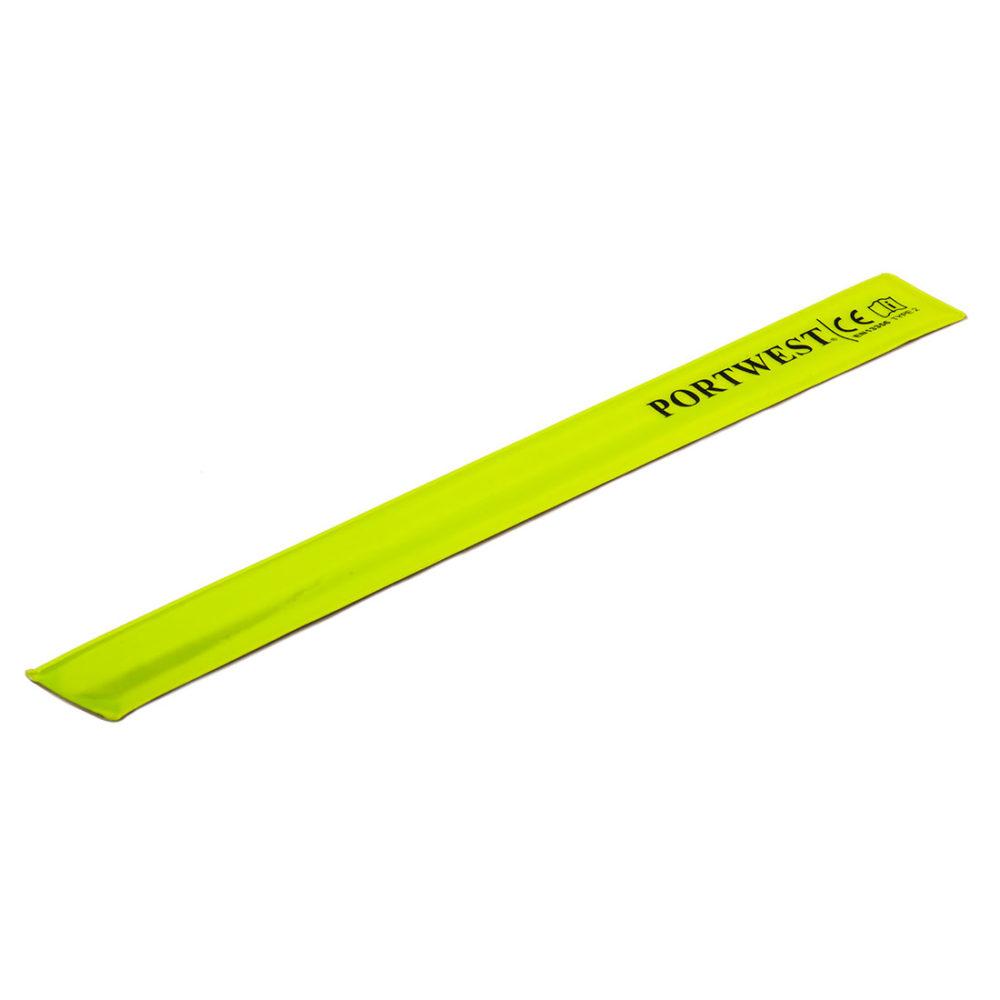 HV04 – Banda reflectante Slap Wrap 41 x 4 cm  Amarillo. cajas de  50  unidades
