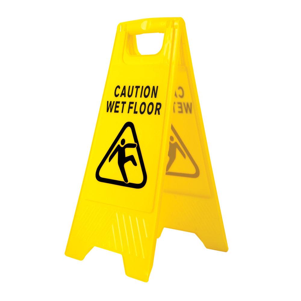 HV20 – Señal de aviso de suelo mojado  Amarillo