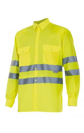 V143 Camisa manga larga alta visibilidad