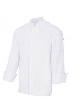 V405208S Chaqueta de cocina stretch con cierre central