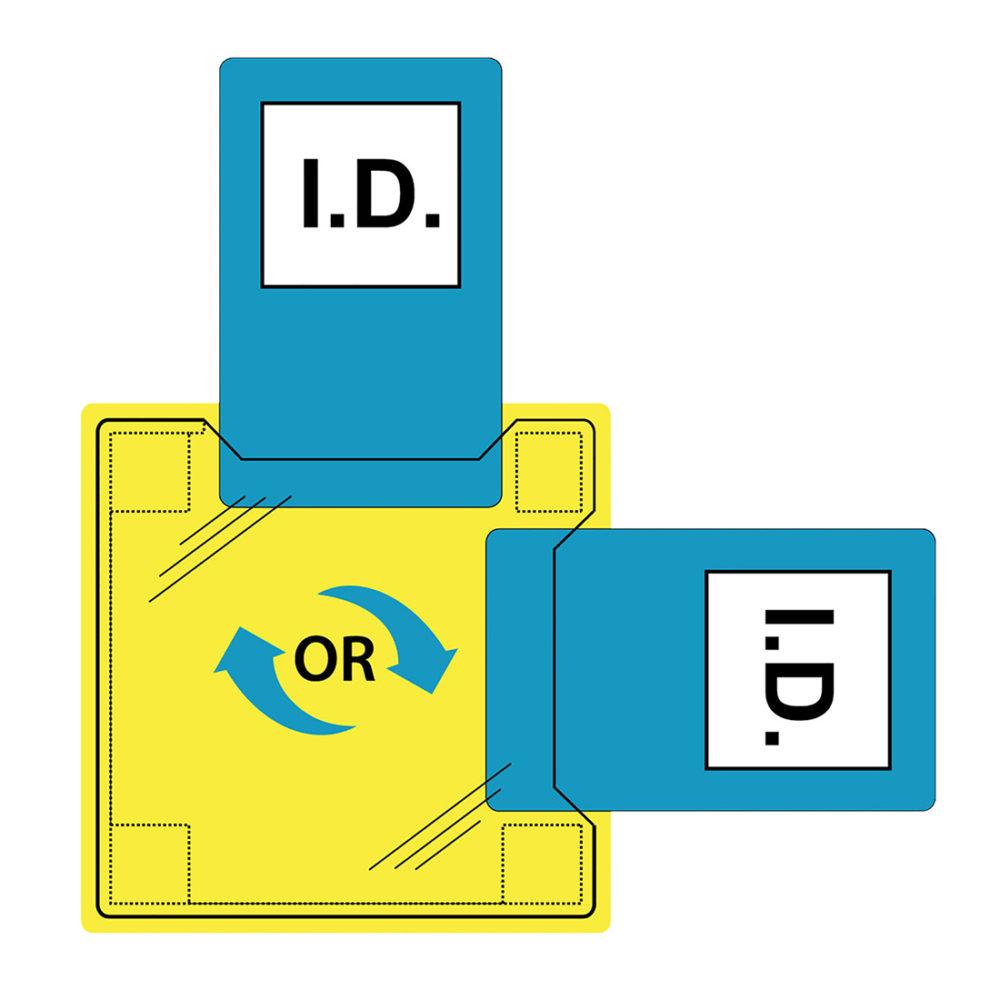 ID20 – Porta identificación dual, para coser  Incoloro