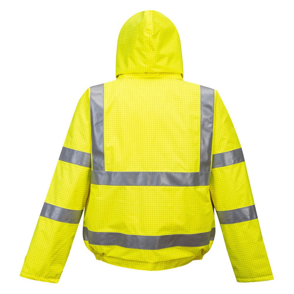 S773 – Cazadora de alta visibilidad, ignífuga y antiestática Bizflame Rain