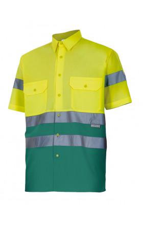 V142 Camisa bicolor manga corta alta visibilidad