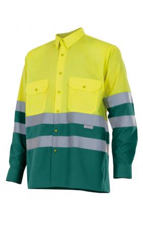 V144 Camisa bicolor manga larga alta visibilidad